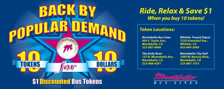 Bus Token Program - Montebello Bus Lines - Interior Bus Card