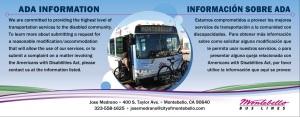 MBL ADA Bus Card - Bilingual