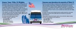 MBL Title VI Bus Card - Bilingual