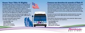 MBL Title VI Bus Card - Bilingual