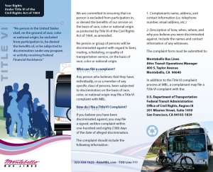 MBL Title VI Brochure English